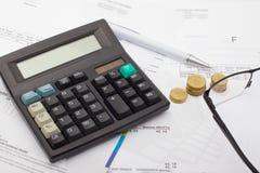 Contabilidad financiera - negocio foto de archivo libre de regalías