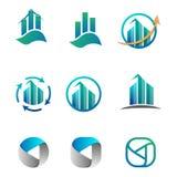 contabilidad, finanzas, ejemplo del vector del sistema del logotipo del negocio stock de ilustración