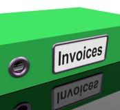 Contabilidad y costos de la demostración del fichero de las facturas Fotografía de archivo libre de regalías