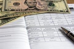 contabilidade da finança Pagamento e moeda fotos de stock royalty free