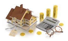 Contabilidade dos bens imobiliários Fotografia de Stock