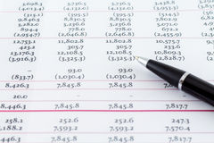 Contabilità finanziaria dello strato di affari Immagine Stock Libera da Diritti