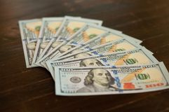 Contable y dinero financiero del negocio fotos de archivo libres de regalías