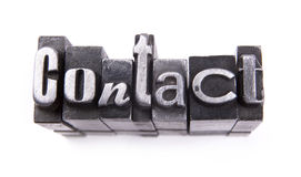 Contact. Made from metal letters royalty free stock image