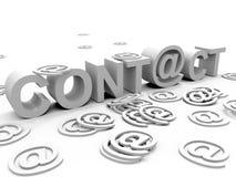 Contact stock illustratie