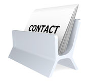Contact. Business Card Holder. Isolated Royalty Free Stock Photography