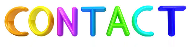 contact 3d colorfal tekst vector illustratie