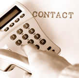 Contact image libre de droits