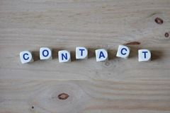 Contact Stock Foto