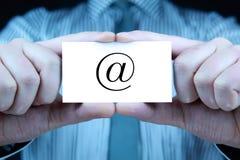 Contact - adreskaartje Royalty-vrije Stock Foto