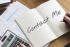 Contact Assistant Good Job Concept Stock Images