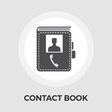 Contact book flat icon Stock Images