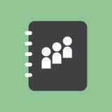 Contact book icon Stock Photos