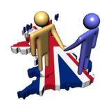 Contact britannique illustration libre de droits