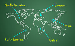 Contact the business goals. Map of the continent. Contact the business goals Royalty Free Stock Image