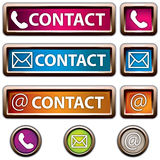 Contact Button Royalty Free Stock Photography