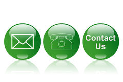 Contact button Royalty Free Stock Images