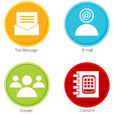Contact Button Icon Set Stock Photography