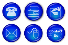 Free Contact Buttons (blue) Stock Photo - 6995690