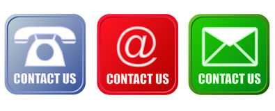 Contact buttons set Royalty Free Stock Images