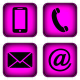 Contact buttons set. Royalty Free Stock Photo