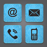 Contact buttons - set icons - email, envelope, pho Stock Photos