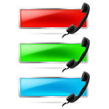 Contact call illustration. Royalty Free Stock Photography