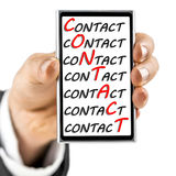 Contact center concept Royalty Free Stock Photo