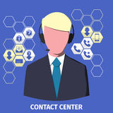 Contact center employee Royalty Free Stock Photo