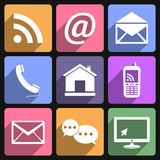 Contact & Communication Icons Stock Images