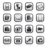 Contact and communication icons Royalty Free Stock Photos