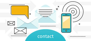 Contact Concept Message and Speech Bubble Royalty Free Stock Photos