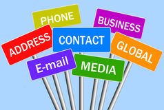 Contact Concept stock images