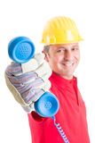 Contact construction company Royalty Free Stock Photography