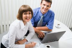 Contact d'équipe de travail Image libre de droits