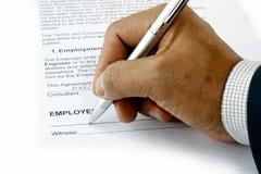 Contact d'emploi Images stock