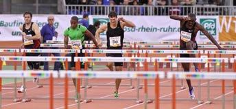 Contact d'intérieur d'athlétisme Photos libres de droits