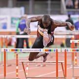 Contact d'intérieur d'athlétisme Image libre de droits