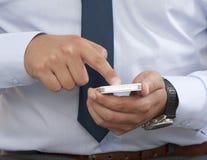 Contact d'un téléphone intelligent Images libres de droits