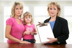 Contact de conférence d'enfant de professeur de parent. Photos libres de droits