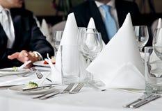 Contact de déjeuner d'affaires Photo stock