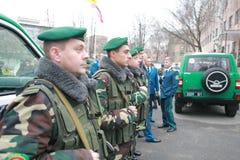 Contact de la conduite militaire Photos stock