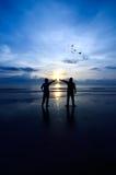 Contact de la lumière de Sun Image libre de droits