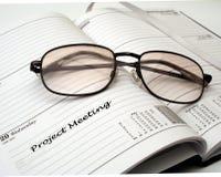 Contact de projet Photo stock