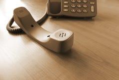 Contact de transmission de téléphone photographie stock
