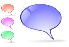 Contact des graphismes - bulles pour vos projets Image stock