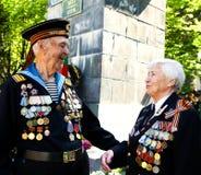 Contact des vétérans de la guerre Photographie stock libre de droits