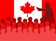 Contact du Canada illustration de vecteur