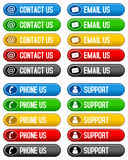 Contact Email Phone Us Buttons Royalty Free Stock Image