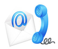 Contact email symbol. Illustration of an email icon Stock Images